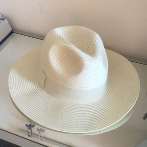 Something Navy Basket Weave Panama Hat